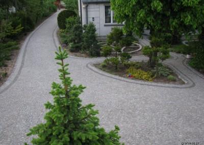 Granikos - podjazd i alejki z kostki granitowej